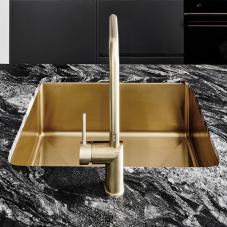 Gull messing kjøkken vask
