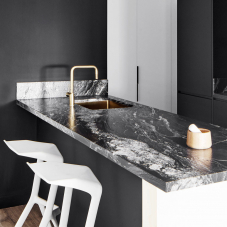 Kjøkkenvask gull messing
