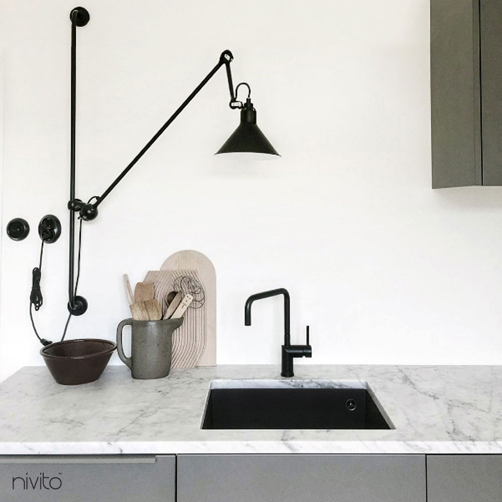 Sort Kjøkkenkran - Nivito 16-RH-320