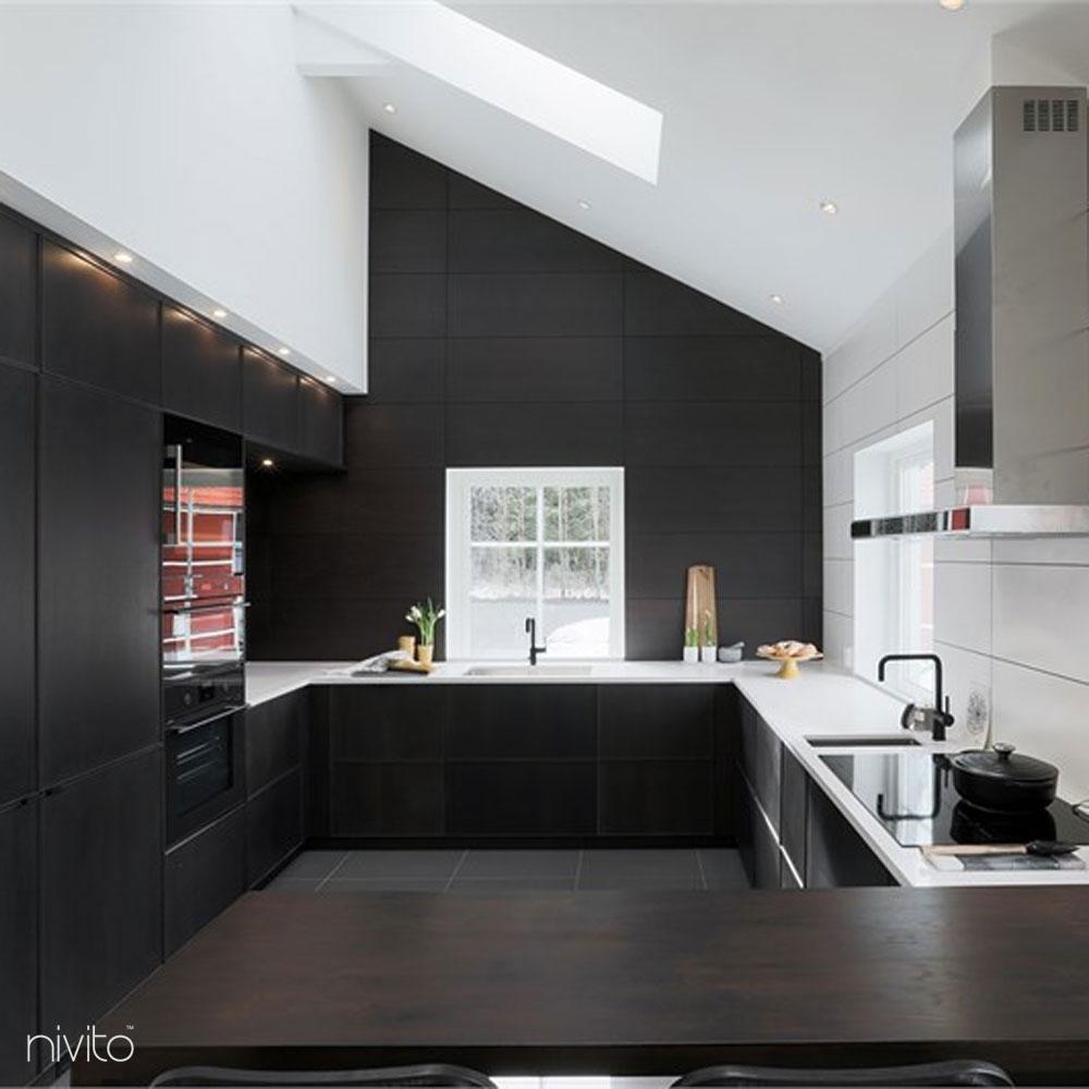 Kjøkken vann kran sort