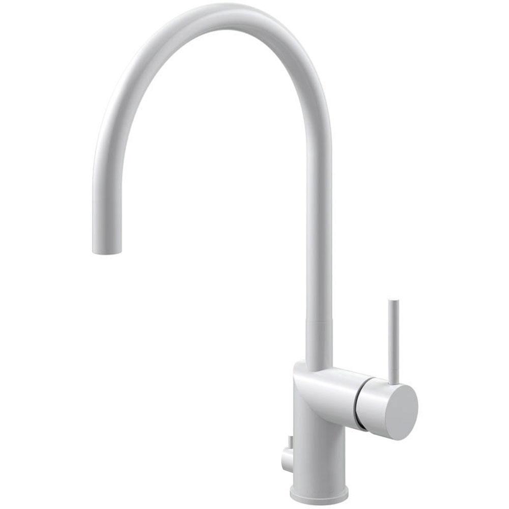 Hvit Kjøkkenkran Med avstengning for oppvaskmaskin - Nivito RH-135