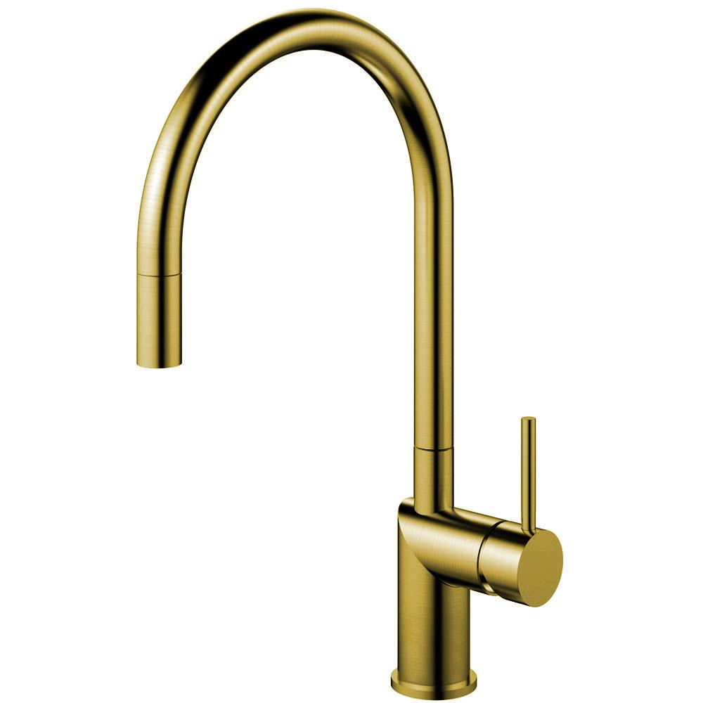 Messing/Gull Kjøkkenarmatur Pullout slange - Nivito RH-140-EX