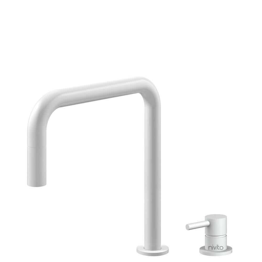 Hvit Kjøkkenkran Pullout slange / Atskilt kropp/pipe - Nivito RH-330-VI