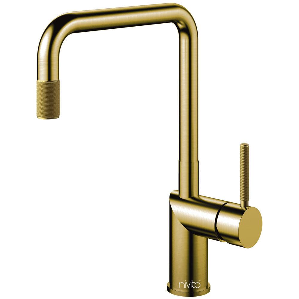 Messing/Gull Kjøkkenarmatur - Nivito RH-340-IN