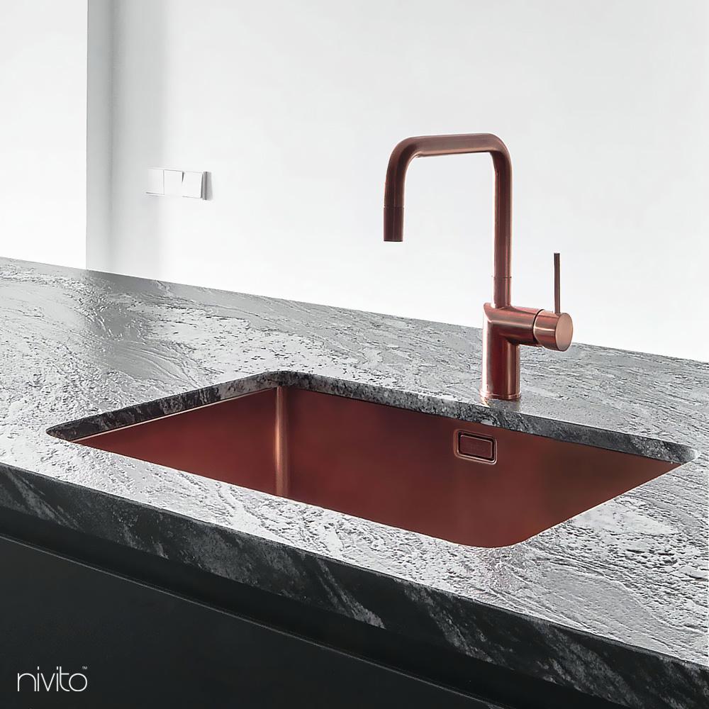 Kobber Kjøkkenkran - Nivito 1-RH-350