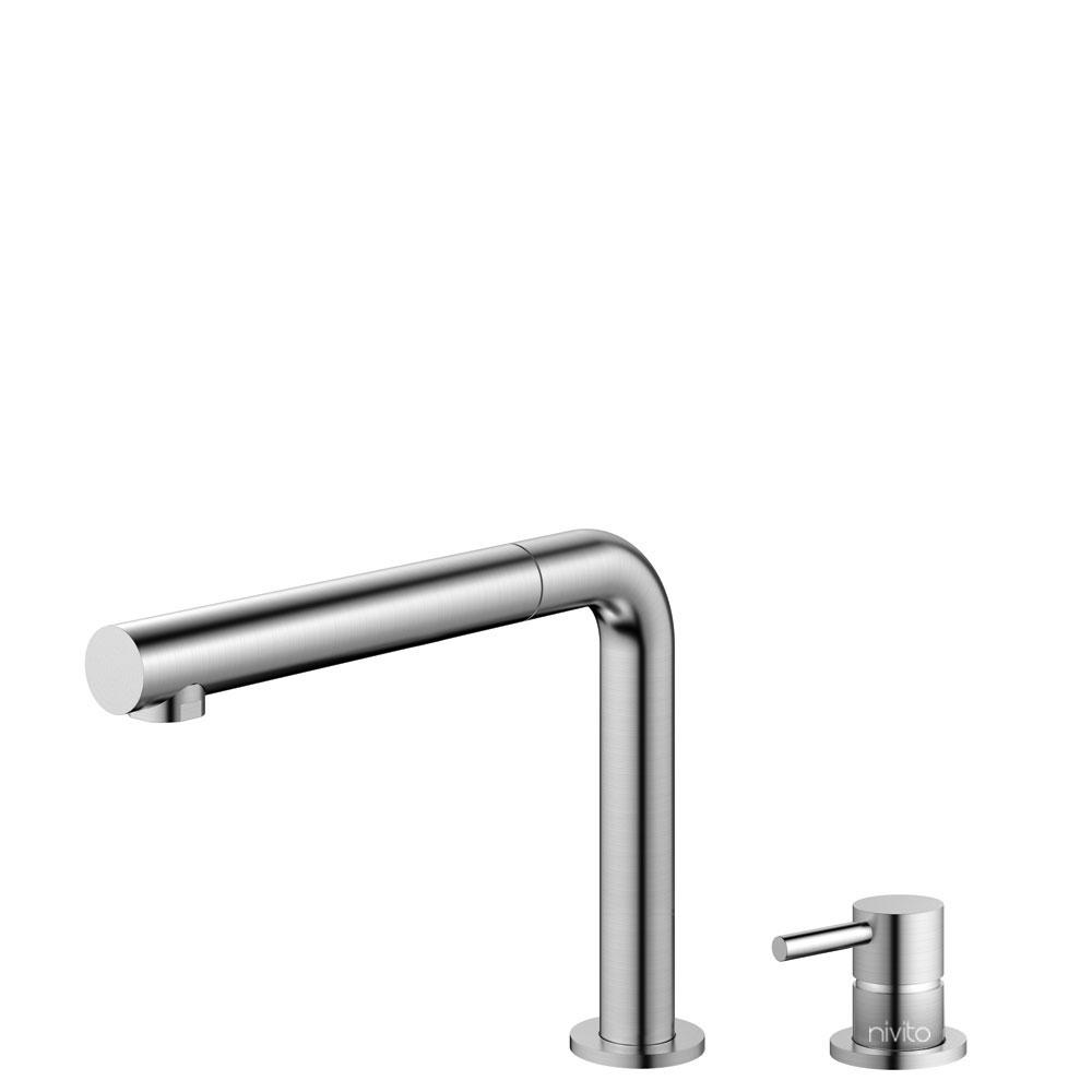 Rustfritt Stål Kjøkkenarmatur Pullout slange / Atskilt kropp/pipe - Nivito RH-600-VI