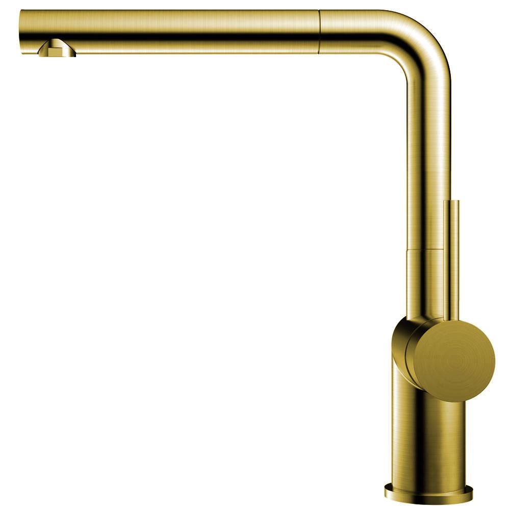 Messing/Gull Kjøkkenarmatur Pullout slange - Nivito RH-640-EX