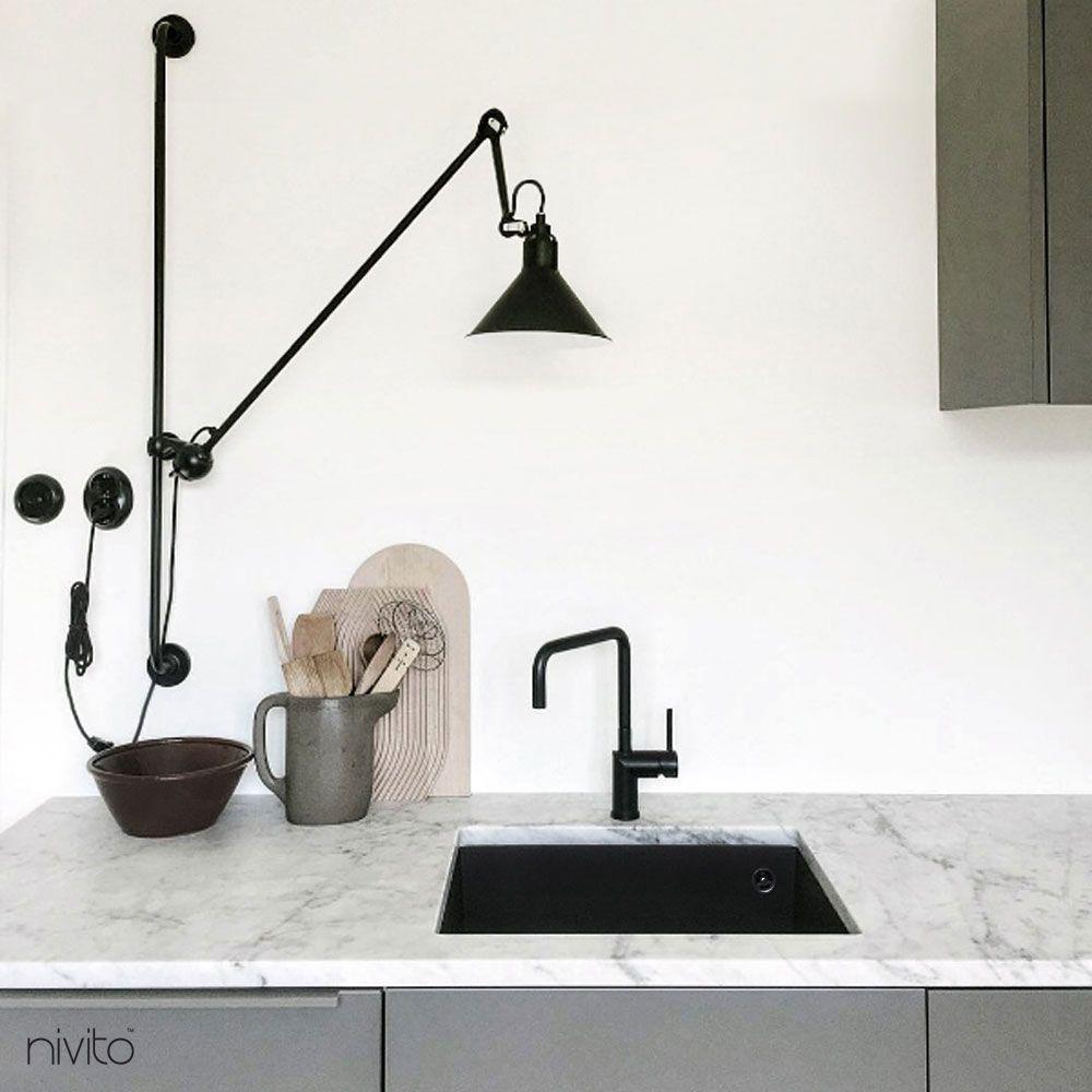 Kjøkken blandebatteri sort