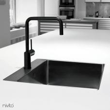 Sort Kjøkkenbatteri - Nivito 1-RH-320