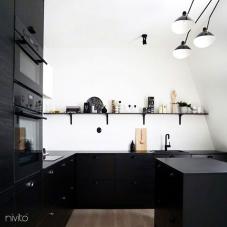 Sort Kjøkkenbatteri - Nivito 13-RH-320