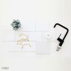 Sort Kjøkkenbatteri - Nivito 19-RH-320