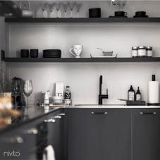 Sort Kjøkkenbatteri - Nivito 21-RH-320