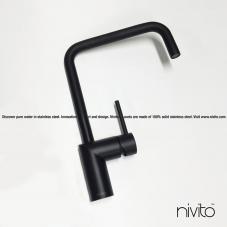 Sort Kjøkkenbatteri - Nivito 23-RH-320