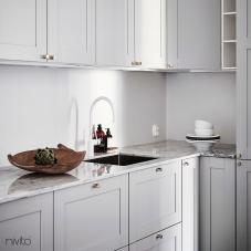 Hvit kjøkken armatur kran