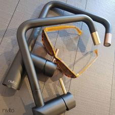 Kobber Kjøkkenbatteri sort/kobber - Nivito 1-RH-350-BISTRO