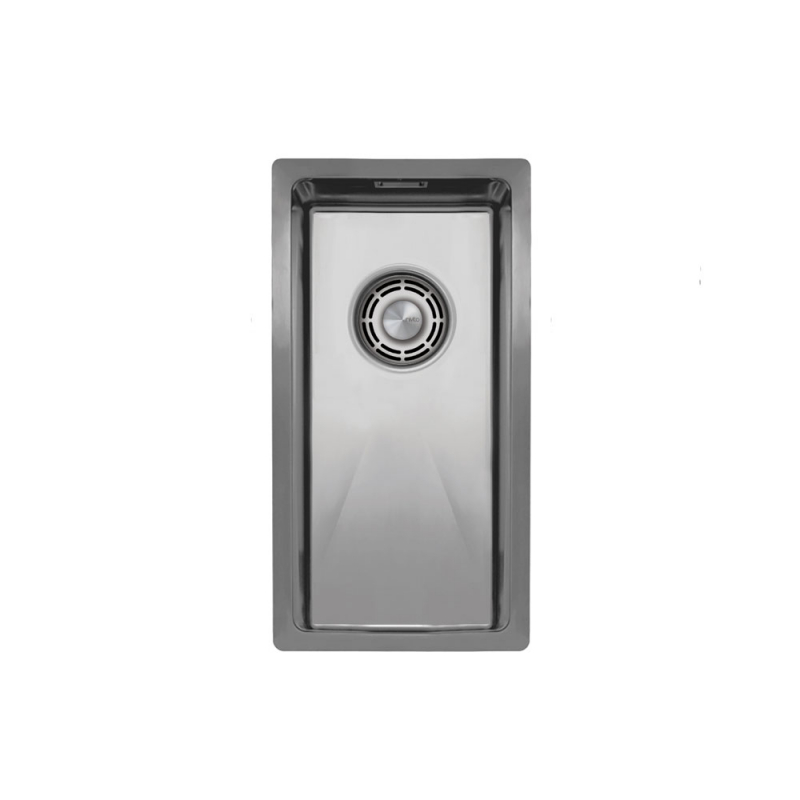 Rustfritt Stål Kjøkkenvask - Nivito CU-180-B Brushed Steel Strainer ∕ Waste Kit Color