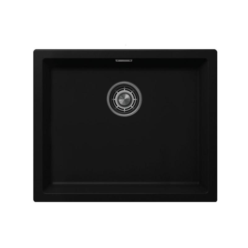 Sort Kjøkkenvask - Nivito CU-500-GR-BL Brushed Steel Strainer ∕ Waste Kit Color