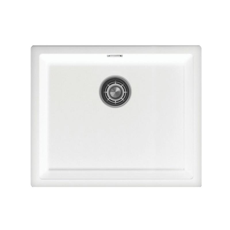 Hvit Kjøkkenvask - Nivito CU-500-GR-WH Brushed Steel Strainer ∕ Waste Kit Color