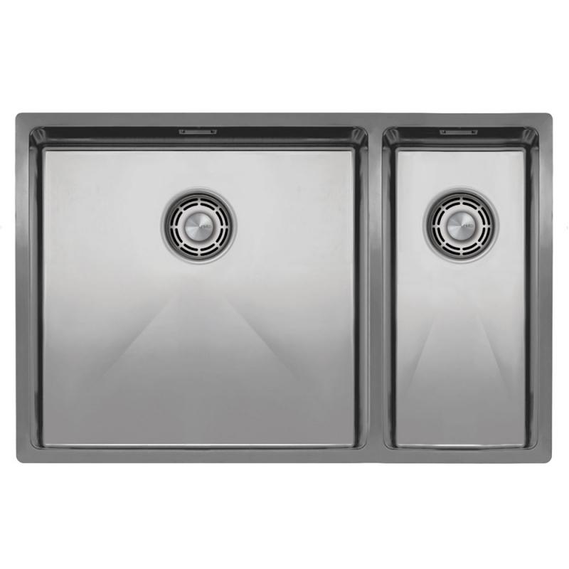 Rustfritt Stål Kjøkkenvask - Nivito CU-500-180-B Brushed Steel Strainer ∕ Waste Kit Color