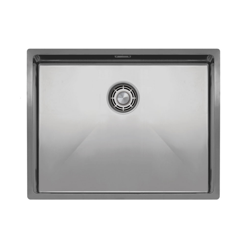 Rustfritt Stål Kjøkkenvask - Nivito CU-550-B Brushed Steel Strainer ∕ Waste Kit Color
