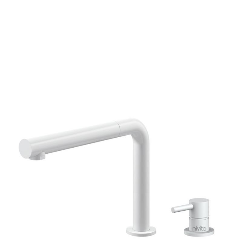 Hvit Kjøkkenbatteri Pullout slange / Atskilt kropp/pipe - Nivito RH-630-VI