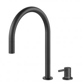 Sort Kjøkkenarmatur Pullout slange / Atskilt kropp/pipe - Nivito RH-120-VI