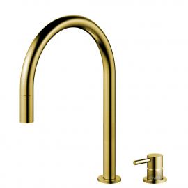 Messing/Gull Pullout slange / Atskilt kropp/pipe - Nivito RH-140-VI