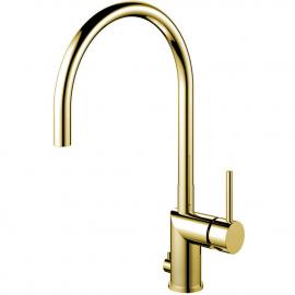 Messing/gull Kjøkkenbatteri Med avstengning for oppvaskmaskin - Nivito RH-165
