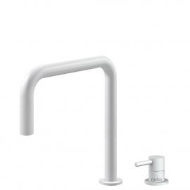 Hvit Kjøkkenarmatur Pullout slange / Atskilt kropp/pipe - Nivito RH-330-VI