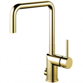 Messing/gull Kjøkkenbatteri Med avstengning for oppvaskmaskin - Nivito RH-365
