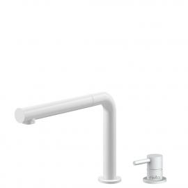Hvit Kjøkkenarmatur Pullout slange / Atskilt kropp/pipe - Nivito RH-630-VI