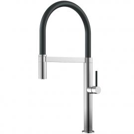 Rustfritt Stål Kjøkkenarmatur Pullout slange / Børstet/sort - Nivito SH-200
