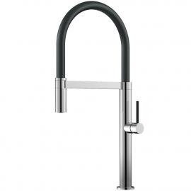 Kjøkkenarmatur Pullout slange / Polert/sort - Nivito SH-210